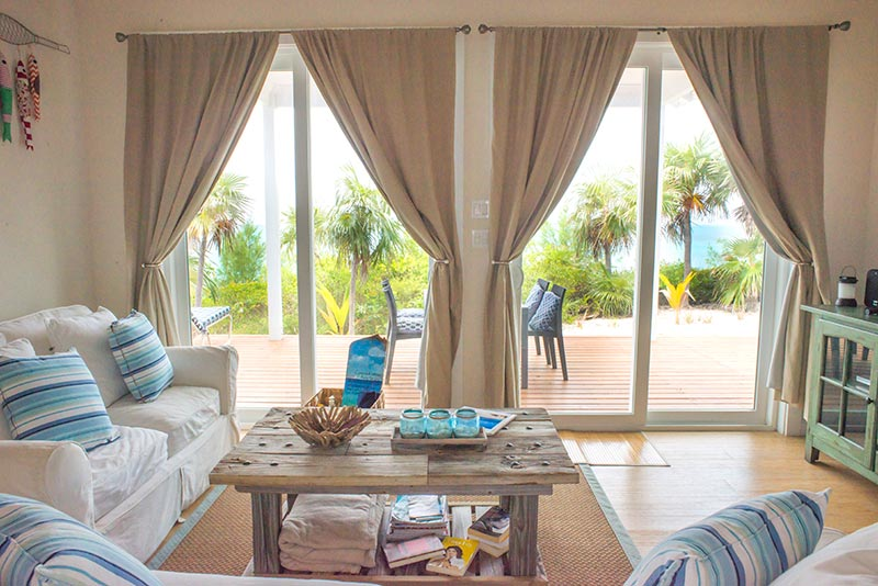 cozy beach villa rose island