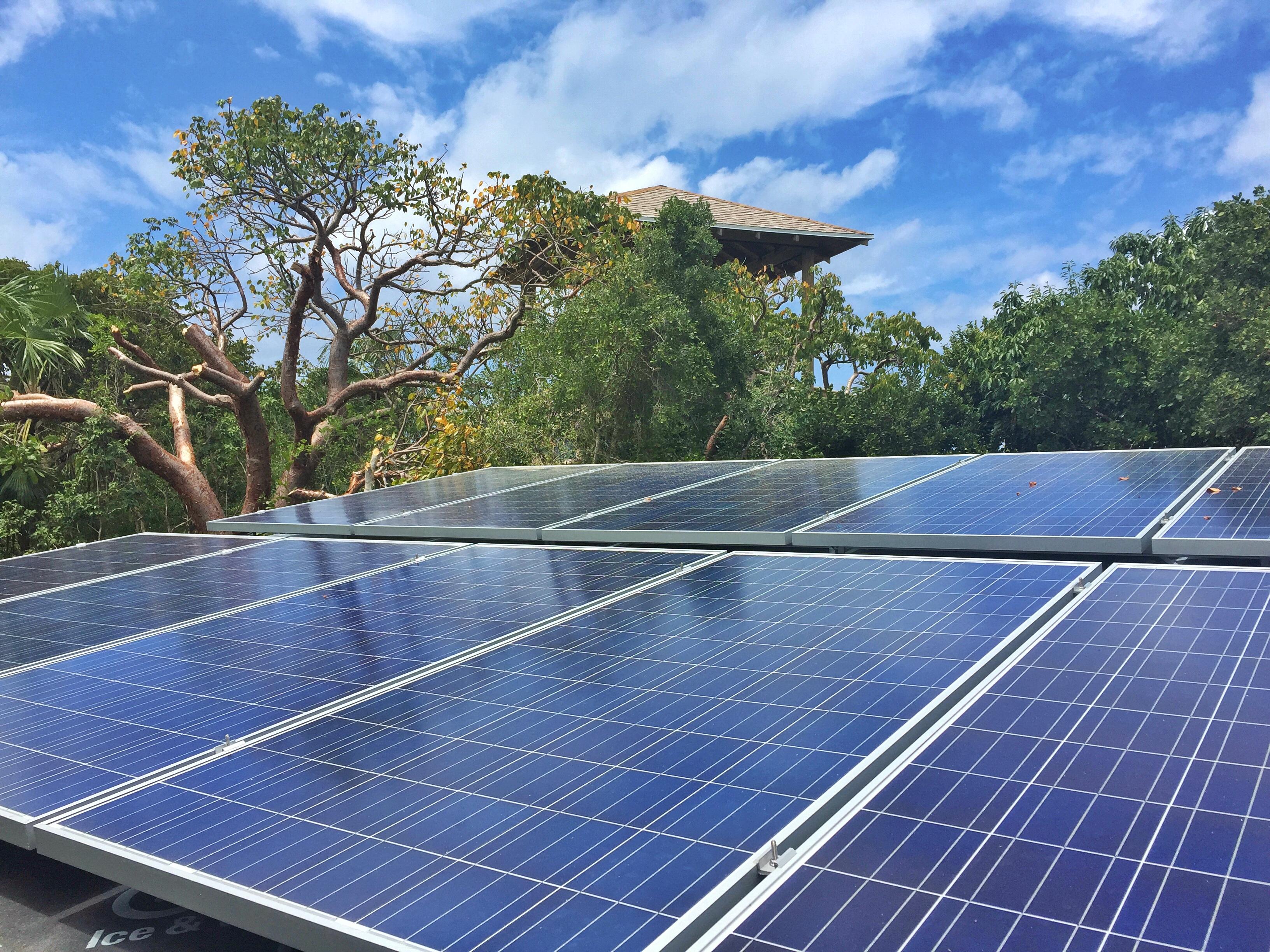 solar panel array rose island