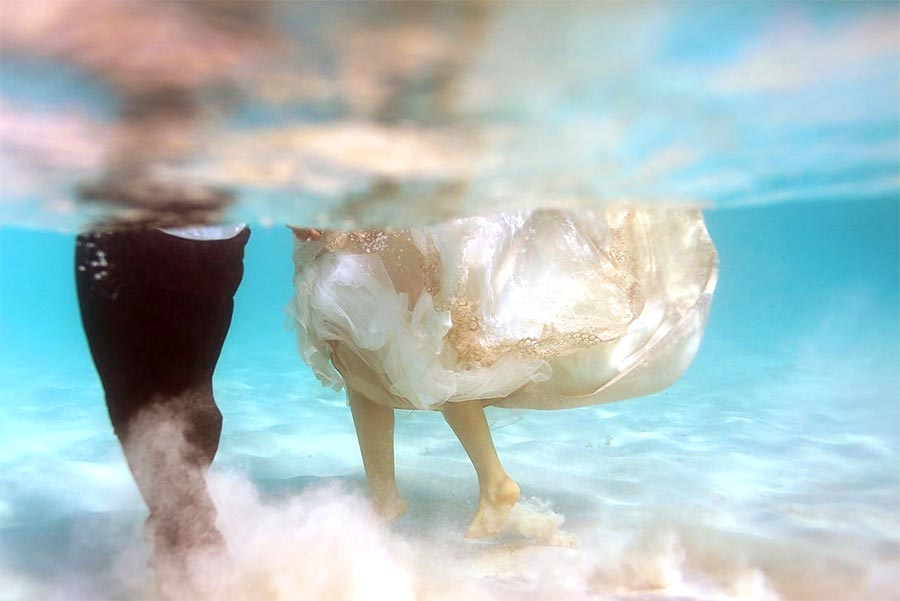 trash the dress under water